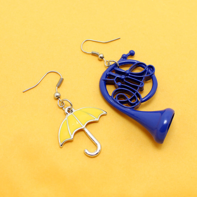 Suit Up Himym How I Met Your Mother Yellow Umbrella Blue French Horn Dangle