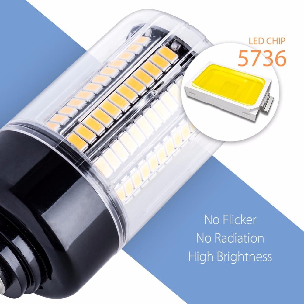 E27 LED Corn Lamp E14 220V High Lumen LED Light Bulb 110V 28 40 72 108 132 156 189leds Energy Saving Lighting No Flicker SMD5736