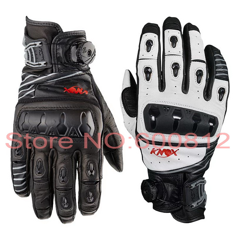 2016 New KNOX ORSA genuine full leather top short paragraph motorcycle racing gloves motorbike gloves Black V14