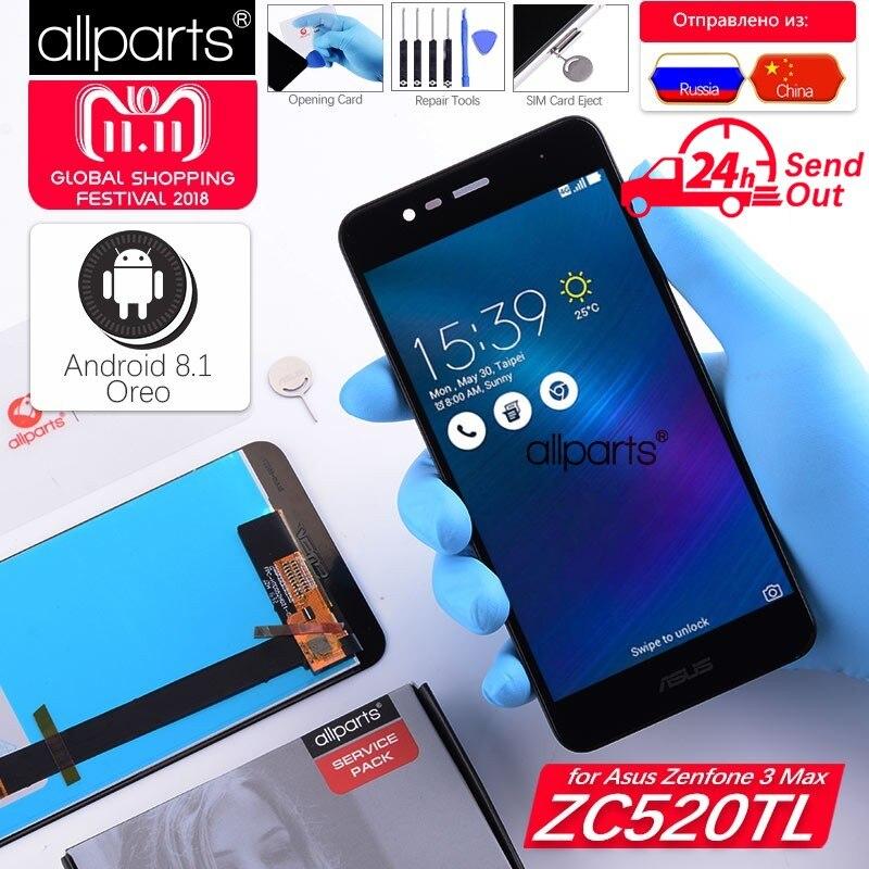 5,2'' NUEVO Original pantalla para Asus Zenfone 3 Max ZC520TL LCD Tactil Completa Display táctil Écran para X008D ZC520TL pantalla pantalla LCD con marco Digitalizador reemplazo Negro Dorado Blanco
