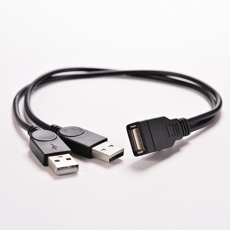 1PC USB 2.0 A 1 Female to 2 Dual USB Male Data Hub Power Adapter Y Splitter USB Charging Power Cable Cord Extension Cable 39CM 1m 1 8m 3m e sata esata male to male extension data transfer cable cord for portable hard drive 3ft 6ft 10ft