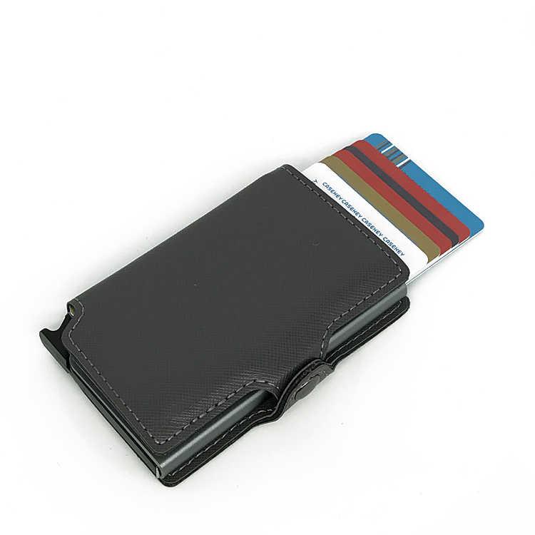 half off a5d74 4d221 Casekey Anti-theft Rfid Credit Card Holder Men Aluminum Metal Business ID  Card holder Case Multifunction Slim Mini Wallet