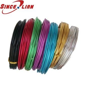 1mm 2mm colorido alambre de aluminio DIY Cable de aluminio suave línea de aluminio Manual de curso de bicicleta jardinería Cable de modelado
