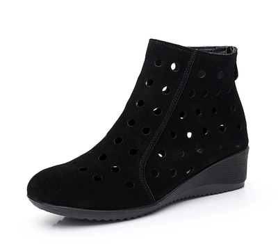ФОТО New 2015 women fashion Summer Boots Breathable Hole Whtie Boots lady summer shoes G1158