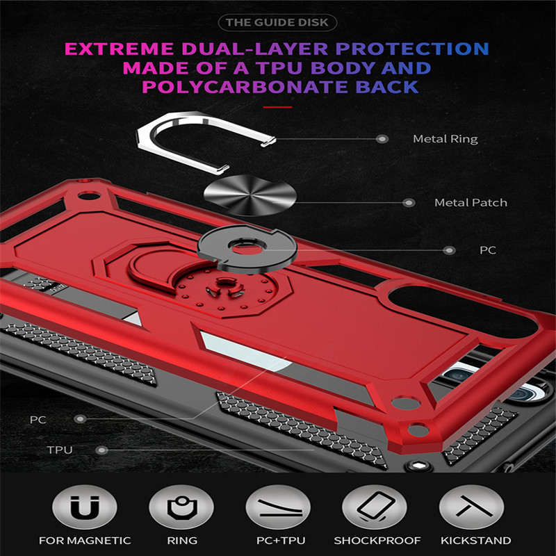 Image 4 - H&A Luxury Shockproof Phone Case For Samsung Galaxy A60 A70 A80 A90 A50 A40 A30 A20 A10 Magnetic Ring Stand Cover M10 M20 Case-in Fitted Cases from Cellphones & Telecommunications