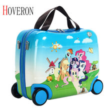 HOVERON 2019 Hot Children's Travel Bag File Bag Female Baby Boy Creative Baby Toy Box Luggage Can Sit Can Ride Children's Gifts(China)