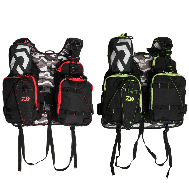Daiwa Fishing Vest Backpack Adjustable Size Fly Fishing Safety Life Jacket Multi Pockets Fishing ClothingDaiwa Fishing Vest Backpack Adjustable Size Fly Fishing Safety Life Jacket Multi Pockets Fishing Clothing