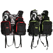 Daiwa Fishing Vest Backpack Adjustable Measurement Fly Fishing Security Life Jacket Multi Pockets Fishing Clothes