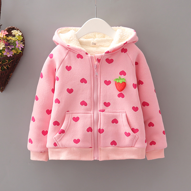 Baby Girl Sweatshirts Hoodies 2018 New Autumn Winter Long Sleeve Cute Outwear Baby Cotton Coat  Jacket Girls Tops Kids Clothes