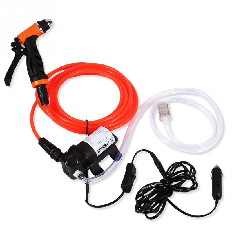 12V Car Sprayer High Pressure Electric Car Washer Cleaning Machine Water Pump Trigger Spray Gun Washing Kit 12v 65w high pressure marine deck car washer wash water pump cleaner sprayer kit