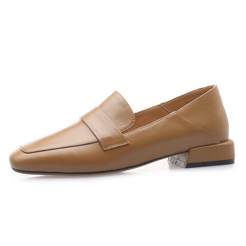 QUTAA 2019 nowa skóra bydlęca + pu kobiety pompy moda damskie buty platformy zasznurować na co dzień kwadratowe szpilki kobiety pompy rozmiar 34 43 w Buty damskie na słupku od Buty na  Grupa 2