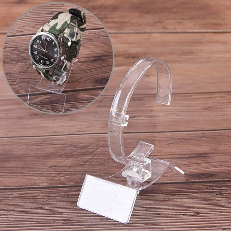 1 Stück 80x35x60mm Neue Verkauf Uhr Halter Kunststoff Schmuck Armreif Manschette Armband Uhr Display-ständer Halter KöStlich Im Geschmack