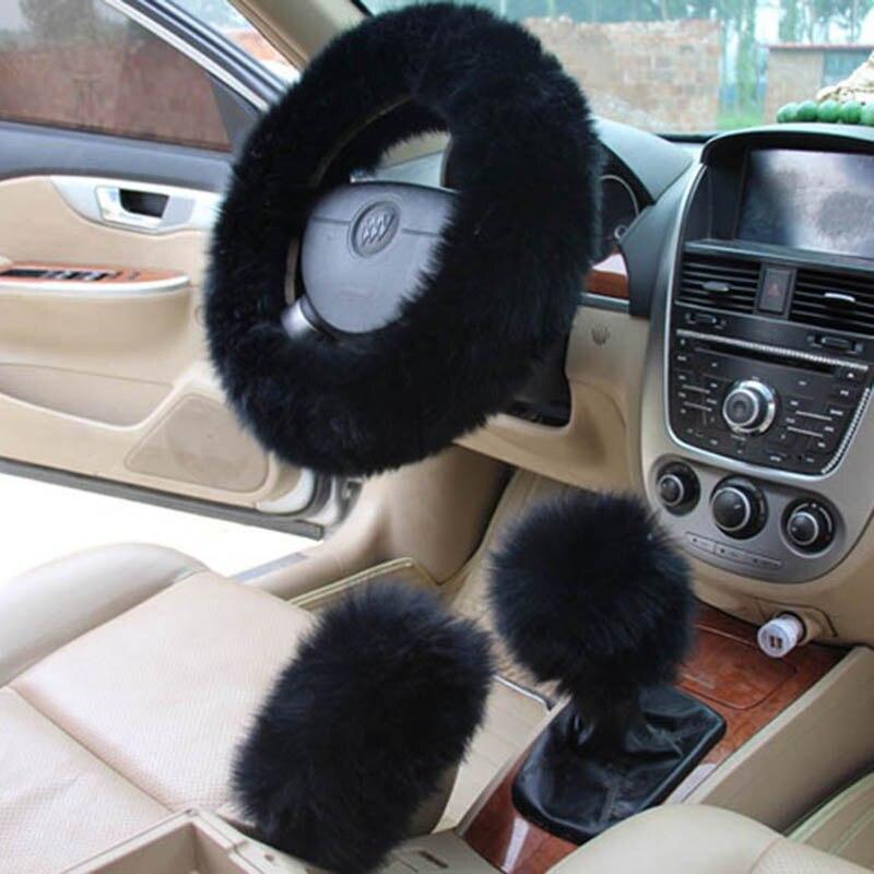 KKYSYELVA Piel cubiertas del volante del coche Invierno climatizada - Accesorios de interior de coche - foto 4