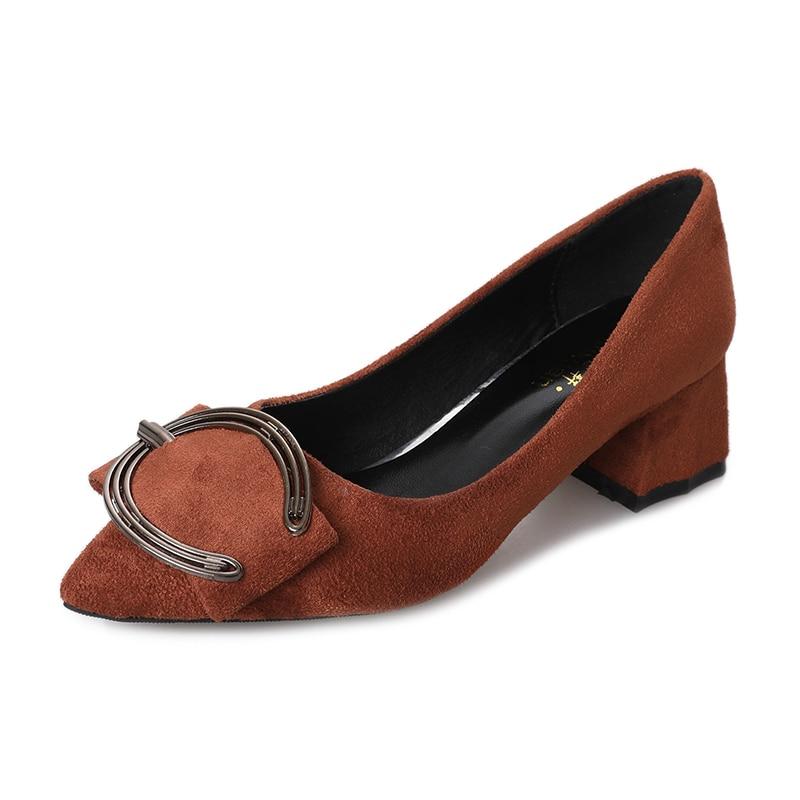 Los Tinto Primavera 4 Encantadora Dedos Vestido Med Zapatos 2018 Nuevas Hebilla Ronda De Formal Bombas Pies Calzado Conciso vino Oficina 5 Mujer Negro Las gris Tacones Cm Mujeres qpX1XxwaH