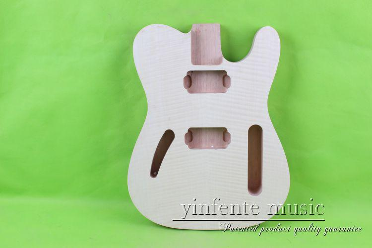 купить one 0017# unfinished  electric guitar body  mahogany made and maple  top дешево