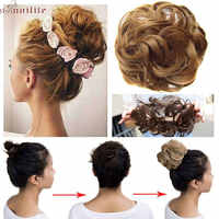 S-noilite 40g Frauen Chignon mit Gummiband Synthetische Haar Extensions Hochsteckfrisur Donut Haarteile Haar Brötchen Wrap Pferdeschwanz für Frauen
