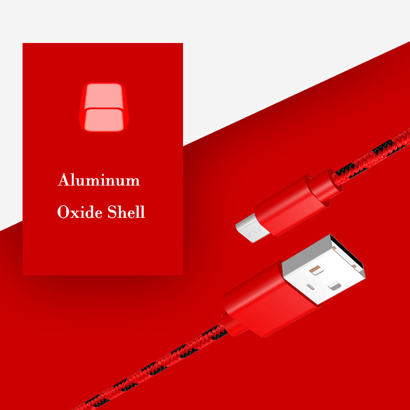 Micro USB Cable Sync Data Line Microusb Cable for Samsung Xiaomi Huawei Android Mobile Phone High Speed Charging Nylon Line