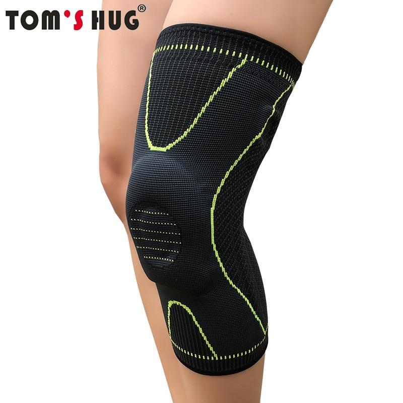 Tom's Hug Silicon Knee Warm Spring Support Brace Pad 1 Pcs Leg Arthritis Injury Gym Sleeve Anti Slip Strip Meniscus Kneepad