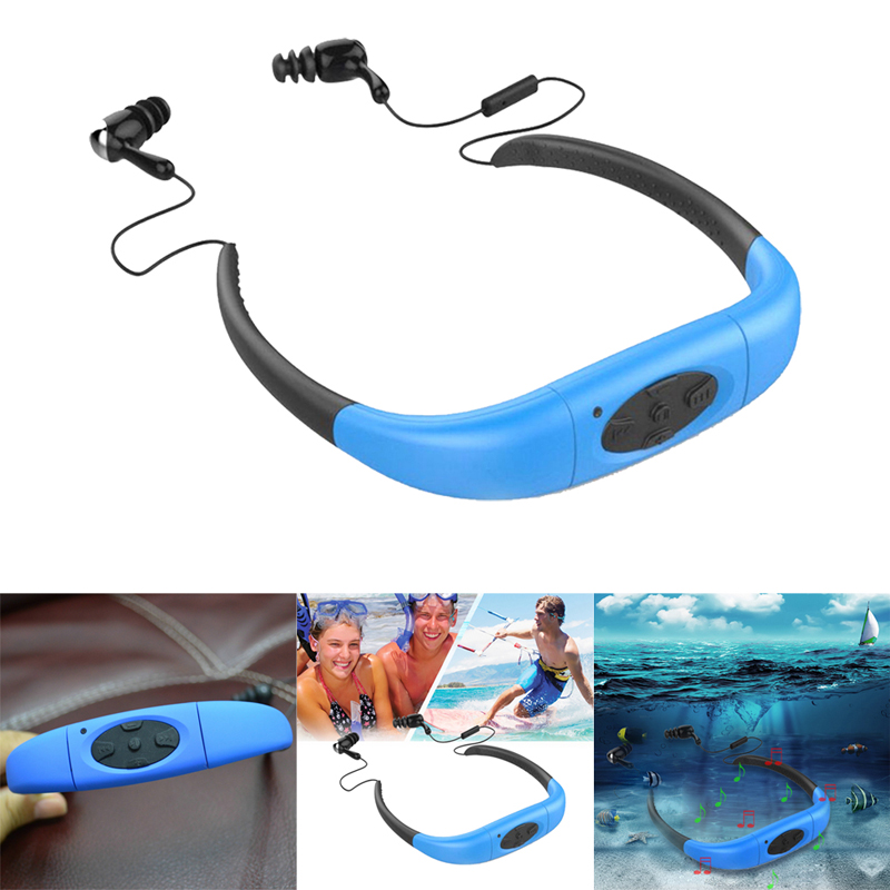 2017 Sport Waterproof Bluetooth headphones Headset Earphone Headphone Music MP3 Player Neckband MP3 FM 3m Underwater stylish neckband headphones mp3 player headset w fm tf card slot blue black
