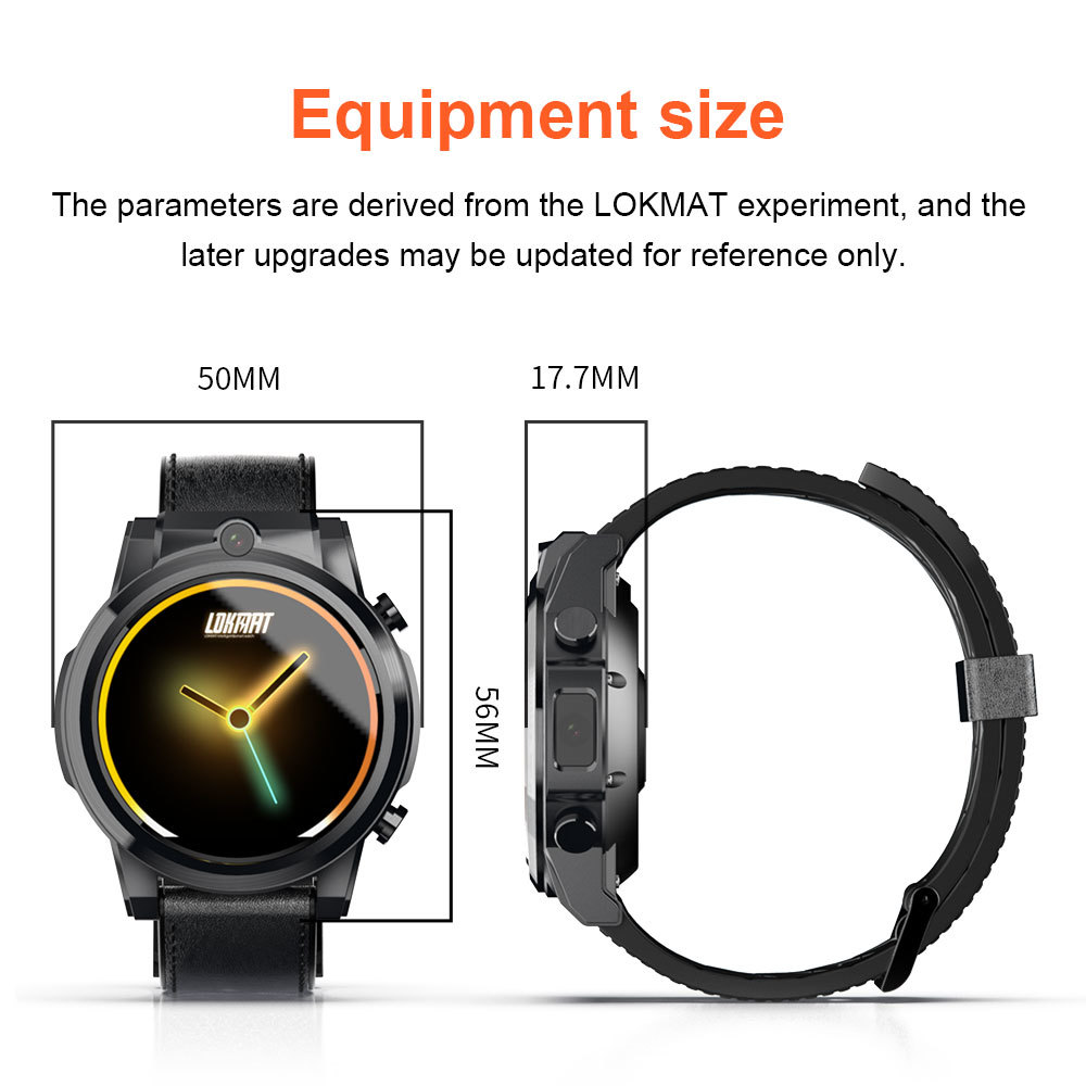 Image 5 - LOKMAT 4G Smart watch men Android 7.1 MTK6739 3GB+32GB AMOLED Screen 610mAh Battery GPS Smartwatch for iosSmart Watches   -