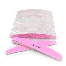 Pink Nail Polish Polishing 200/240 UV Gel Curve Banana Tips Nail Lime Ongl Nail Tool Massage