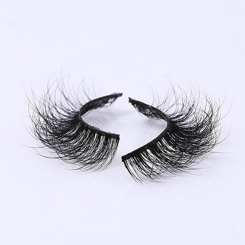 Image 2 - 3D Mink Eyelash Real Mink Handmade Crossing Lashes Individual Strip Thick Lash Fake Eyelashes A02-in False Eyelashes from Beauty & Health