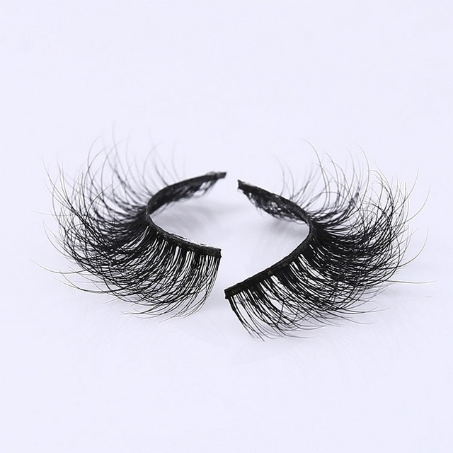 3D Mink Eyelash Real Mink Handmade Crossing Lashes Individual Strip Thick Lash Fake Eyelashes A02 1