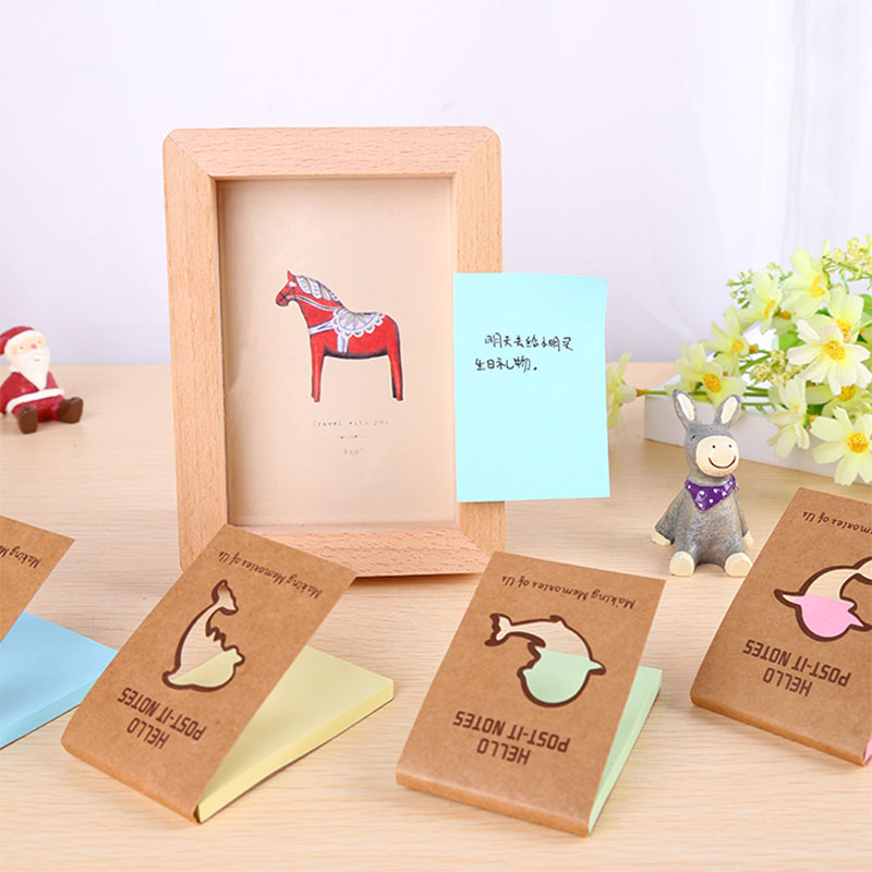 2pcs/lot dolphins Memo Pad Cute Kawaii Sticky Notes Post Planner Stickers Paper Bookmarks stationery learning Supplies