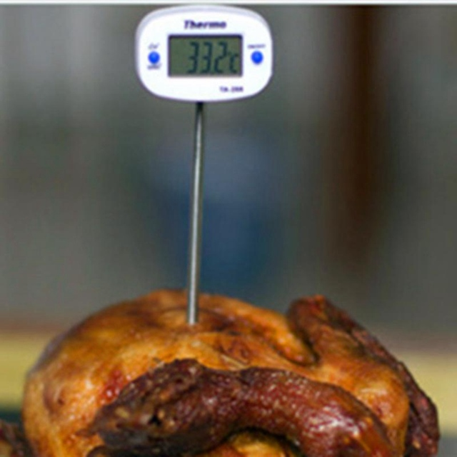 Ta288 Food Food Stainless Steel Probe Thermometer Electronic Digital Display Liquid Grill Thermometer