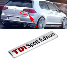 цена на TDI Sport Edition Emblem Logo Sticker 3d Trunk Turbo Insignia Decal Car Tuning For Volkswagen VW Golf Jetta Passat EOS Scirocco