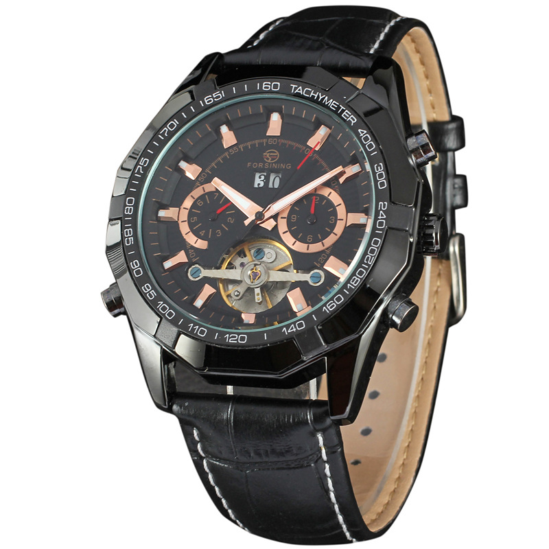 Luxury FORSINING Brand New Automatic Self-Wind Mechanical Wrist Watch Men Dress Multifunction Watches Gift Present Montre Reloje luxury tevise wrist watch for men automatic self wind men s watches dress wristwatch high quality free shipping
