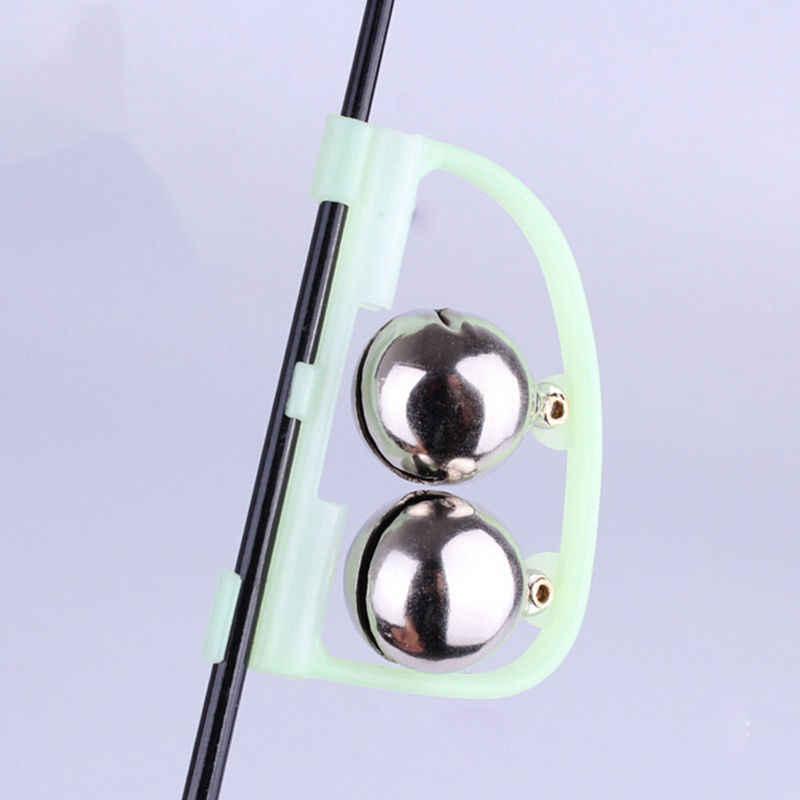 1PCS 형광 낚시 막대 극 팁 클립 트윈 벨 알람 경고 반지 어둠 속에서 낚시 낚시 도구 상자 액세서리 도구