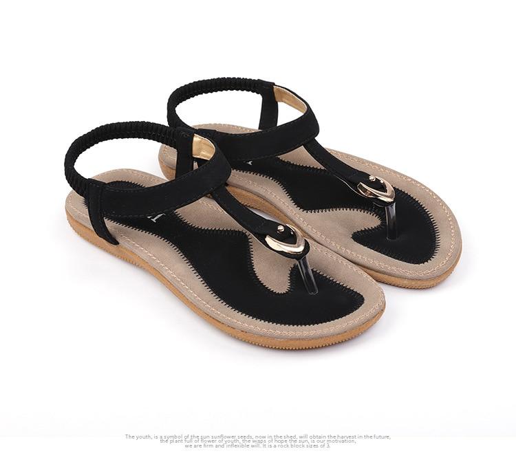 HTB1l0mbuwKTBuNkSne1q6yJoXXaR BEYARNE size 35-42 new women sandal flat heel sandalias femininas summer casual single shoes woman soft bottom slippers sandals