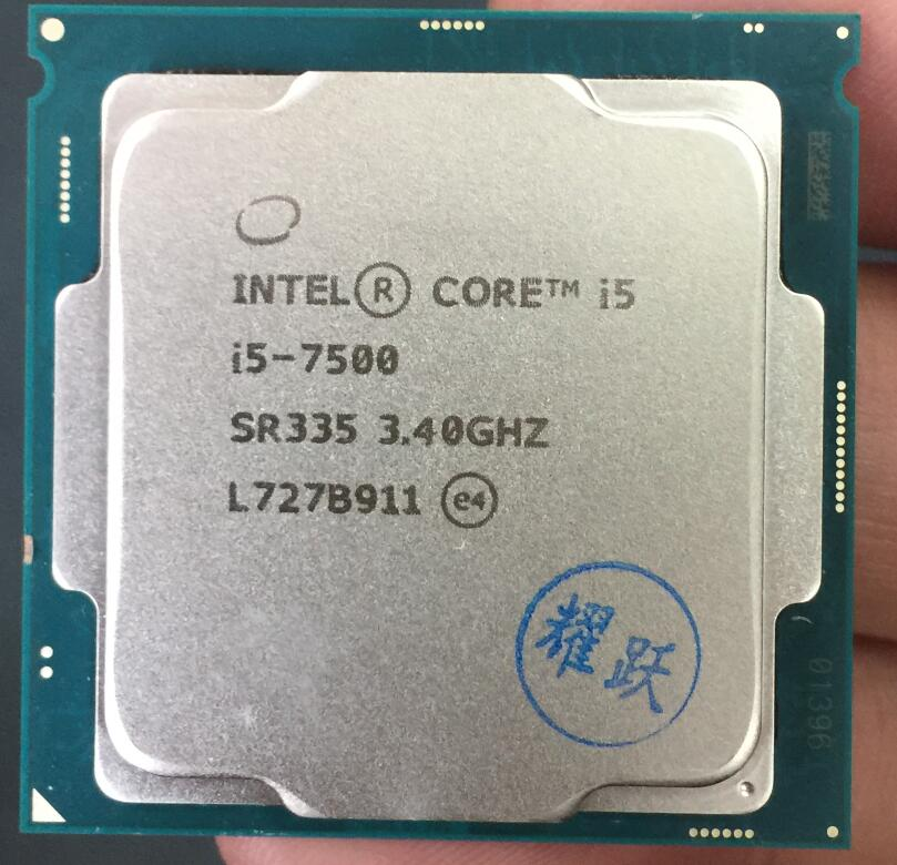 где купить Intel Core 6 series PC Computer Desktop Processor I5 7500 I5-7500 CPU LGA 1151-land FC-LGA 14 nanometers Quad-Core cpu дешево
