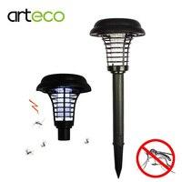 Solar Powered Outdoor Mosquito Insect Killer Solar Light Garden UV LED Zapper Solar Light With Spike