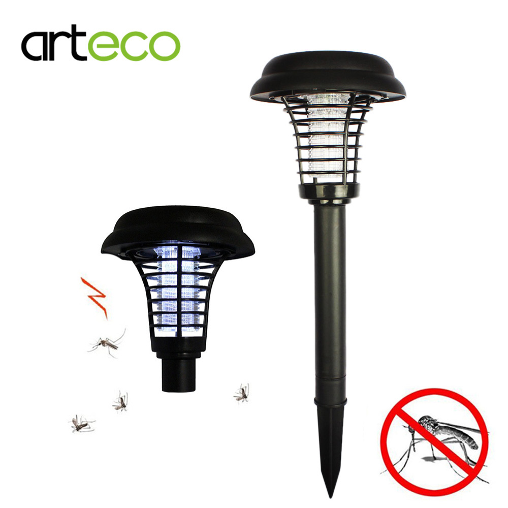 cheap Solar powered Outdoor Mosquito Insect Killer Solar Light Garden UV LED Zapper Solar Light with spike pic,image LED lamps offers