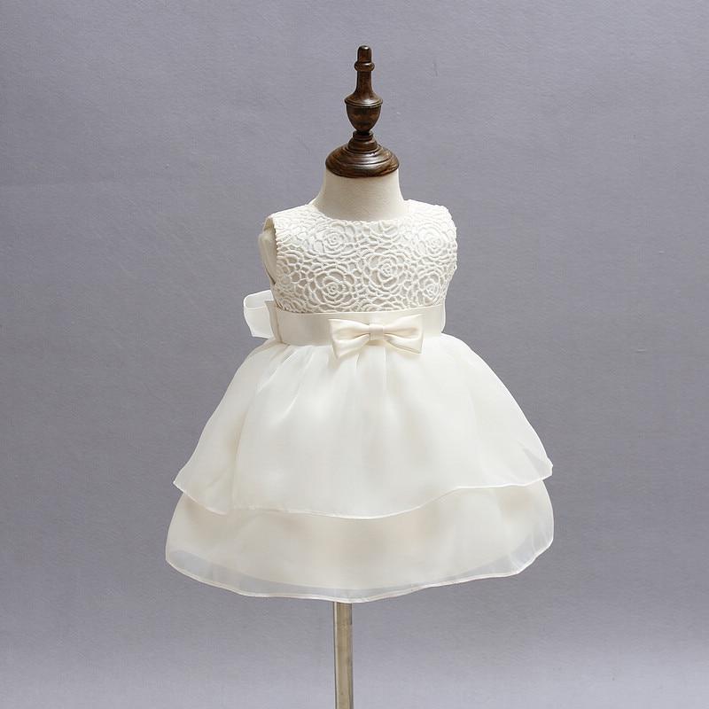 c480d17c96ca2 White Christening Dress Newborn Baby Girls Dresses Bebes Toddler Princess  Kids Dresses 1 Year Birthday Party Dress Girls Clothes