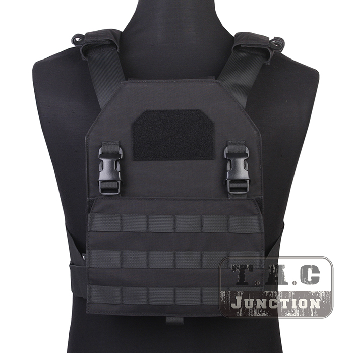 Emerson Tactical Adaptive Plate Carrier APC Black MOLLE Fast Attack Armor Vest Adjustable Lightweight Assault Vest emerson tactical adaptive vest avs plate carrier assault molle lightweight body armor 3 band skeletal cummerbund khaki