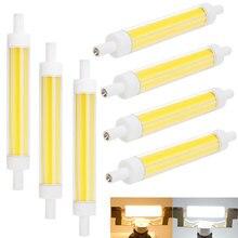 Bright R7S LED Bulb 15W COB 118mm J118 Ceramic Bulbs Dimmable Light Replace 100W Incandescent Floodlight Lamp 220V 240V