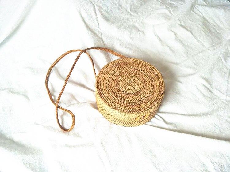 palha rattan bolsa bolsa de Exterior : Nenhum