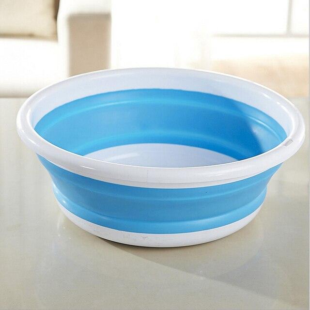 1 pc składany silikonowy umywalka na zewnątrz przenośne mycia umywalka pojemnik na żywność łatwe przechowywanie łazienka kuchnia akcesoria do mycia