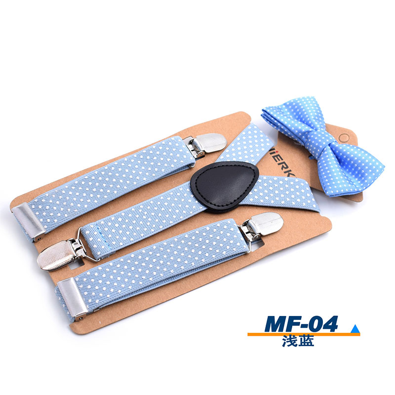 Braces Elastic Boys Suspender Bowties Set For Children Wedding Bowties Suspenders Baby Kids Polka Dots Bow Ties Braces Kids