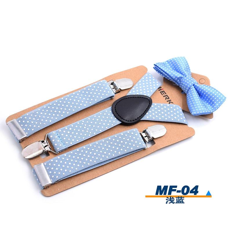 Braces Elastic Boys Suspender Bowties Set For Children Wedding Bowties Suspenders Baby Kids Polka Dots Bow Ties Braces Kids