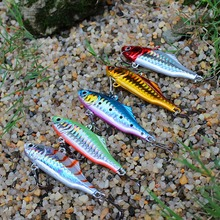 5PCS/Lot 24g 7.5cm VIB fishing lure hard bait winter ice sea fishing shop diving swivel jig wobbler lure sink