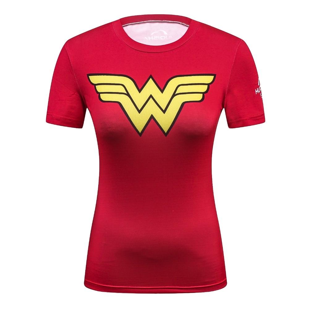 2018 Ladies Comics Marvel Superman/Batman/ Wonder Women's Compression T Shirt Streetwear Funny T-Shirt Fitness Clothing Shirts