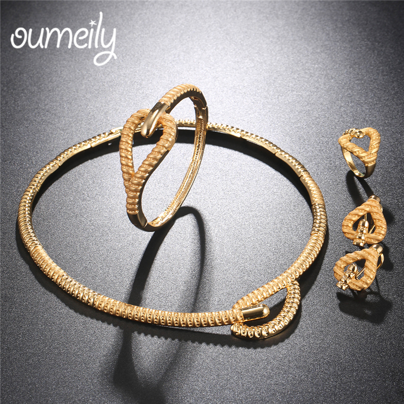 OUMEILY Fashion Jewelry Sets African Beads Jewelry Set Women Bridal Ethiopian Eritrean Gold Color Wedding Statement Jewelry Set цена