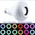 Sem fio Bluetooth Speaker + 12 W RGB Lâmpada E27 SMD5050 CONDUZIU a Lâmpada 100-240 V Luz Led Inteligente Música Player de Áudio com Controle Remoto