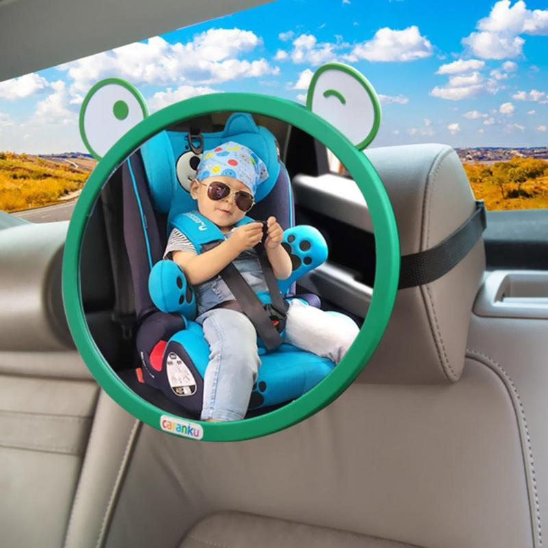 Cartoon Car Accessories Rearview Mirror Wide View Rear For Baby Safety Seat