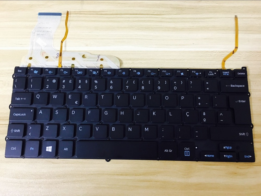 New English Laptop Replacement Keyboard for Samsung 940X3G Series NP940X3G NP940X3F 940X3F US Layout with Backlight