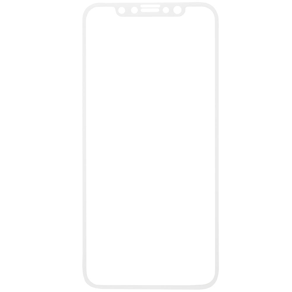 Protective glass Red Line for iPhone X Full Screen white